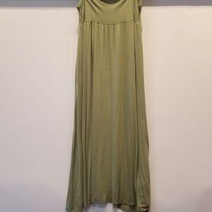 Olive Green Maxi Skirt